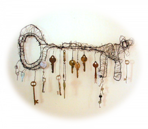 wonderful key hanger by Janice Warren