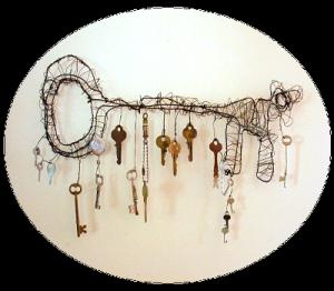 wonderful key hanger by Janice Warren